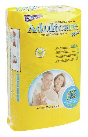 Fralda Geriátrica Adultcare Extra Grande Com 7 Unidades
