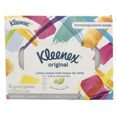 Lenços Kleenex c/ 50 Unidades