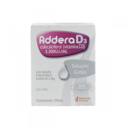 Suplemento Vitamínico Addera D3 3.300UI Solução em Gotas com 20ml