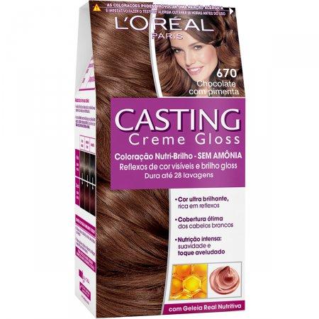 Tintura Casting Creme Gloss Chocolate com Pimenta 670