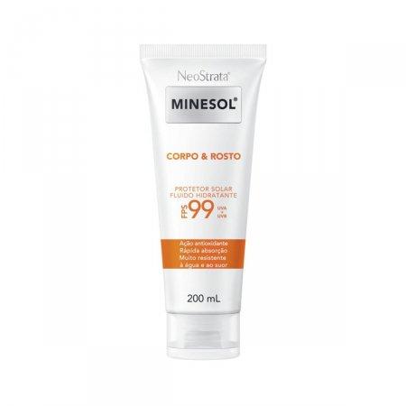 Protetor Solar NeoStrata Minesol Corpo & Rosto Fluido Hidratante Antioxidante FPS 99 com 200ml