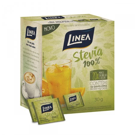 Adoçante Pó Linea 100% Stevia