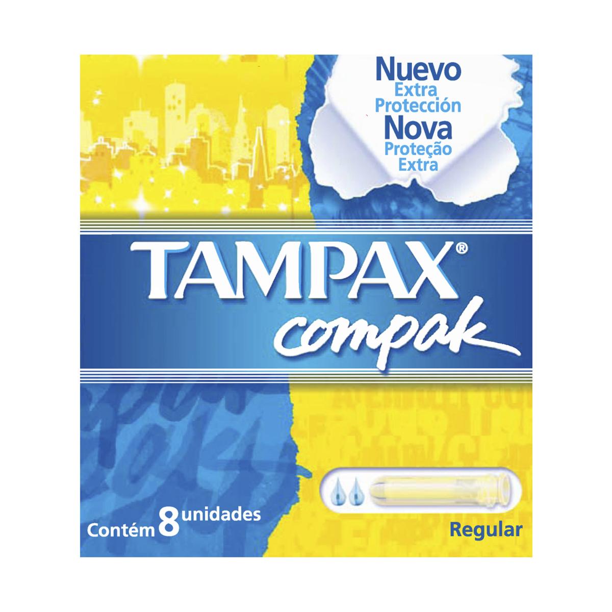 Absorvente Interno Tampax Compak Regular 8 Unidades 8 Unidades