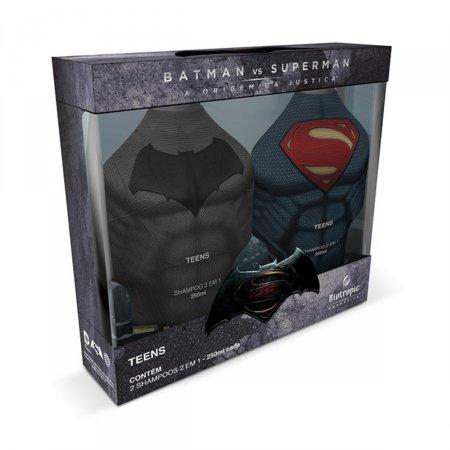 Kit Shampoo Infantil Batman X Superman 2 em 1