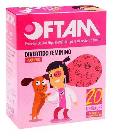 Protetor Ocular Oftam Divertido Feminino Tamanho P 20 Unidades