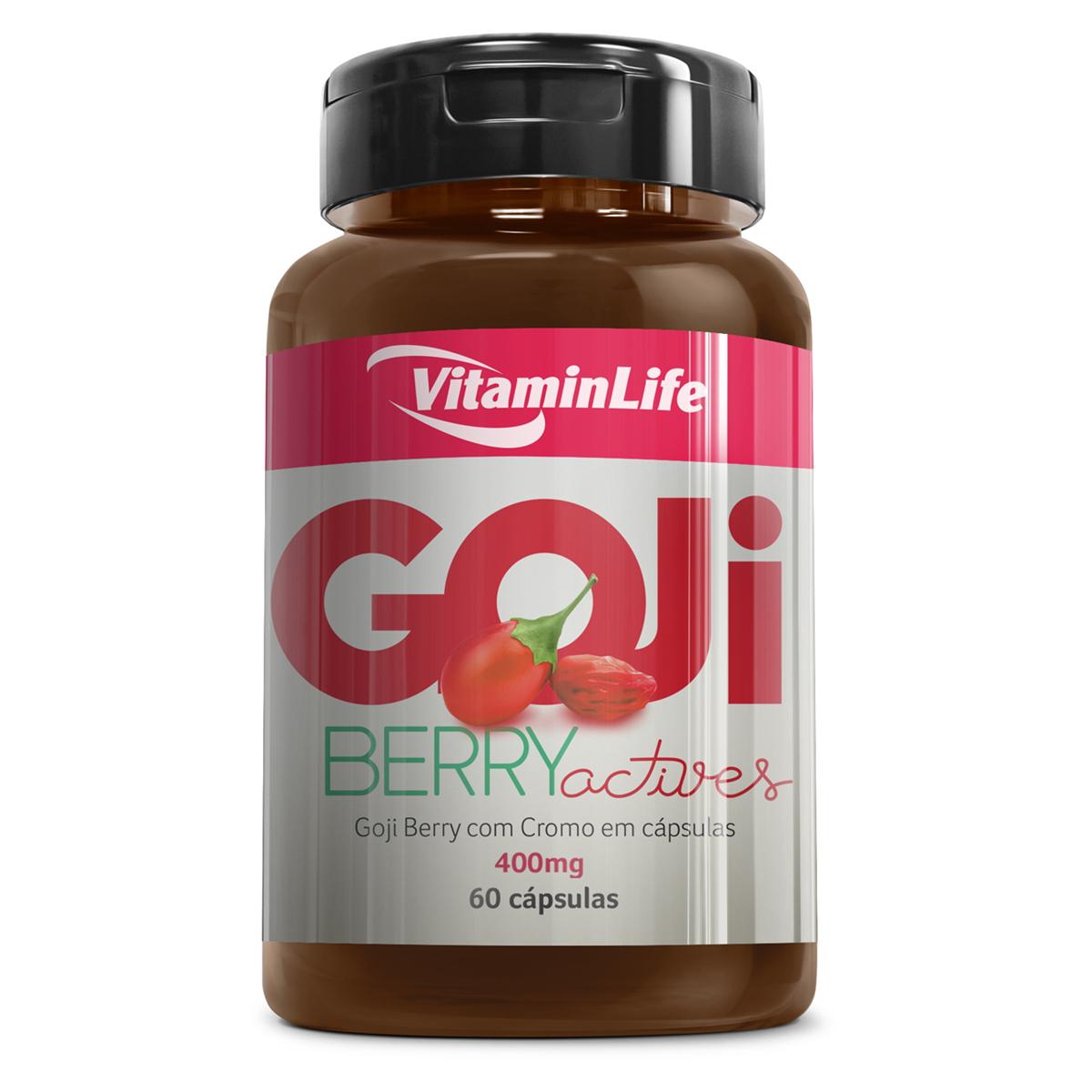 Goji Berry Actives 400mg 60 Cápsulas Vitaminlife 60 Cápsulas