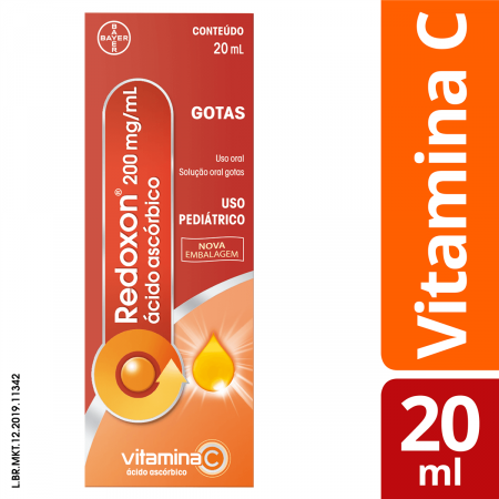 Vitamina C Redoxon 200mg/ml Gotas com 20ml