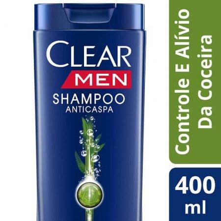 Shampoo Anticaspa CLEAR Men Controle e Alivio da Coceira 400ml
