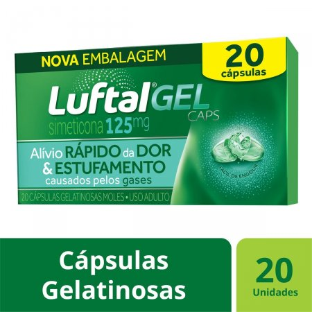 LuftalGel Caps 125mg com 20 cápsulas