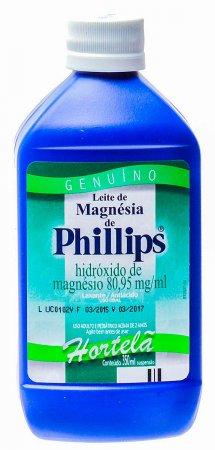Leite de Magnésia Phillips Hortelã 350ml
