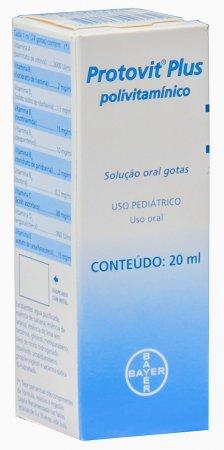 Complexo Vitamínico Protovit Plus Solução Oral em Gotas com 20ml