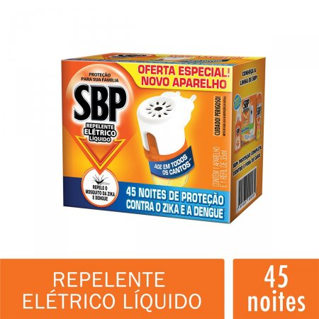 Repelente Elétrico Líquido SBP Noites Tranquilas Refil