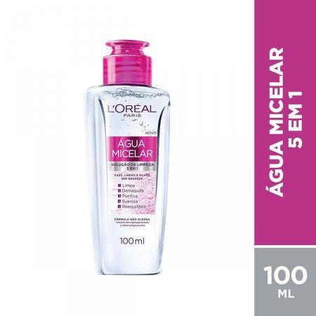Água Micelar Solução de Limpeza L'Oréal Paris 5 em 1