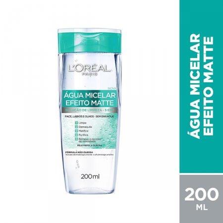 Água Micelar L'Oréal Paris Efeito Matte com 200ml