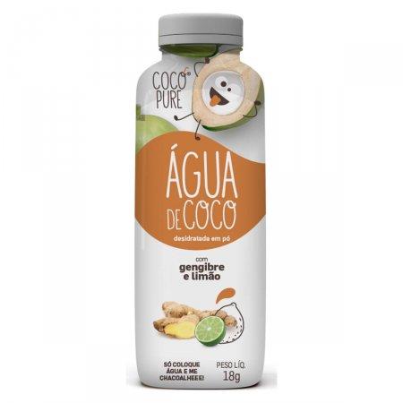 Água de Coco em Pó Coco Pure com Gengibre e Limão