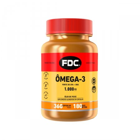 Ômega 3 EPA 100 mg FDC com 360 Cápsulas