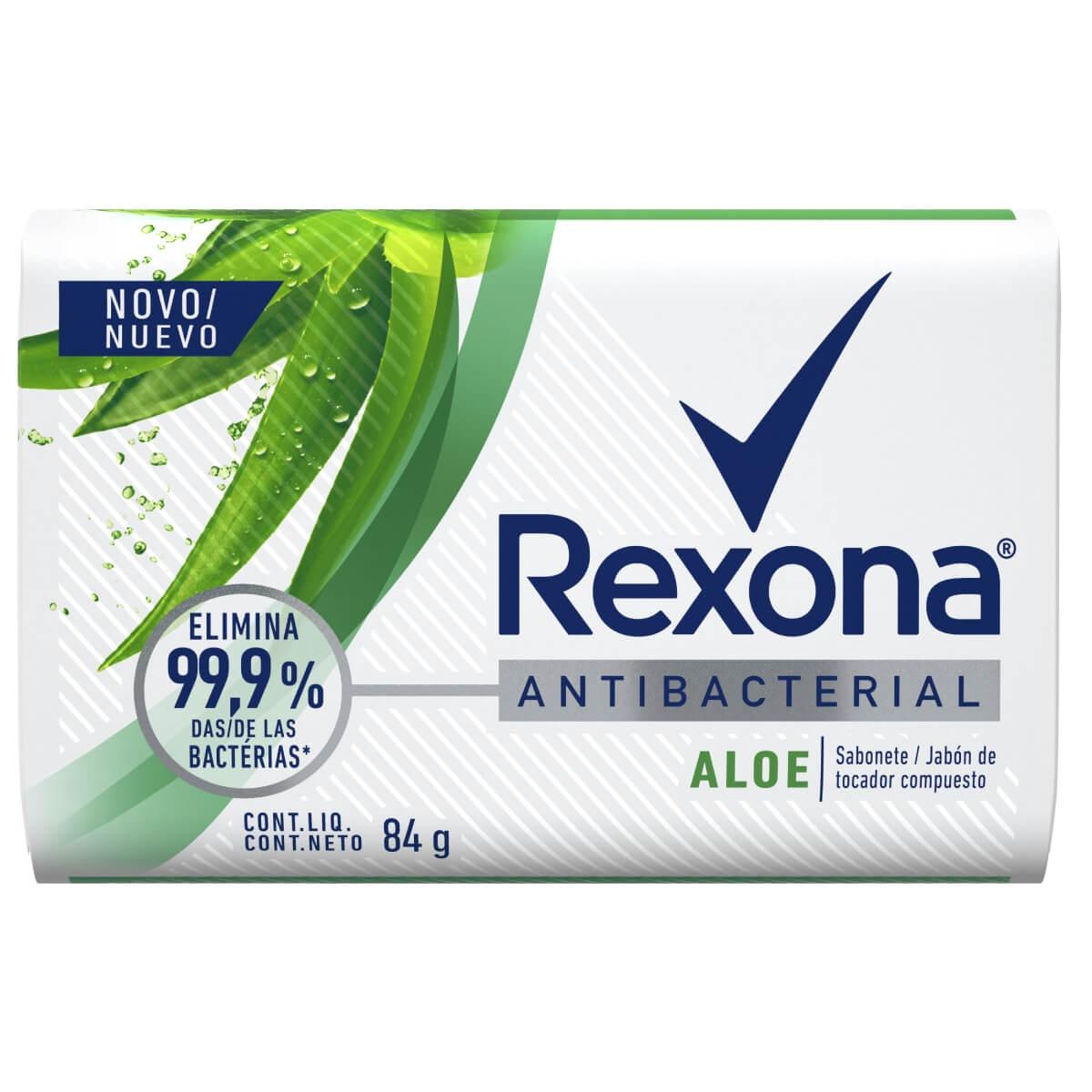 Sabonete Barra Rexona Antibacterial Aloe 84g 84g