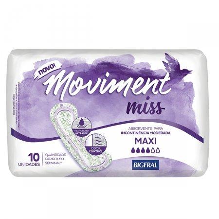Absorvente Bigfral Moviment Miss Maxi com 10 unidades