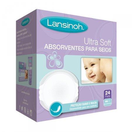 Absorvente para Seios Lansinoh Ultra Soft 24 Unidades