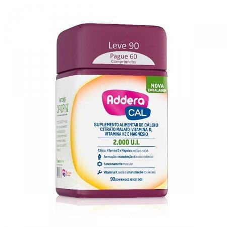 Suplemento Vitamínico Addera Cal 2.000UI com 90 Comprimidos | Foto 1
