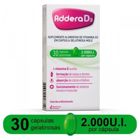 Vitamina D Addera D3 2.000UI com 30 cápsulas