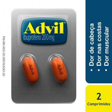 Advil 200mg com 2 Comprimidos