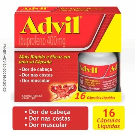 Advil 400mg com 16 Cápsulas