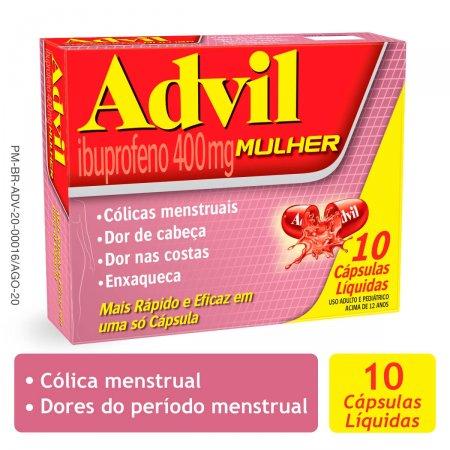 Advil Mulher 400mg com 10 Cápsulas |