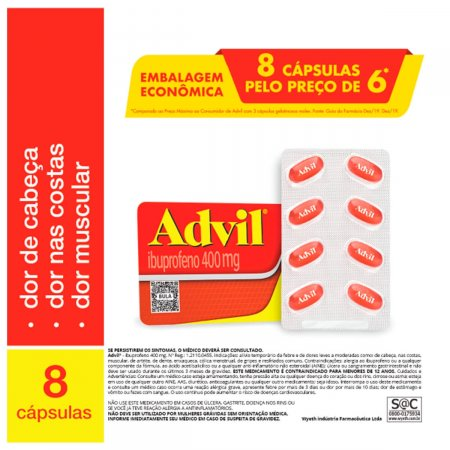Advil Extra Alívio 400mg Embalagem Econômica