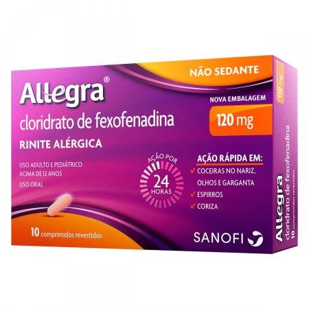 Allegra 120mg 10 Comprimidos Revestidos