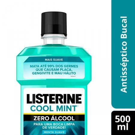 Enxaguante Antisséptico Bucal Listerine Cool Mint Zero Álcool com 500ml