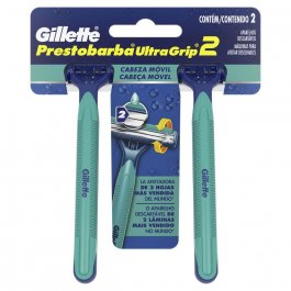 Aparelho de Barbear Gillette Prestobarba UltraGrip Móvel 2 Unidades