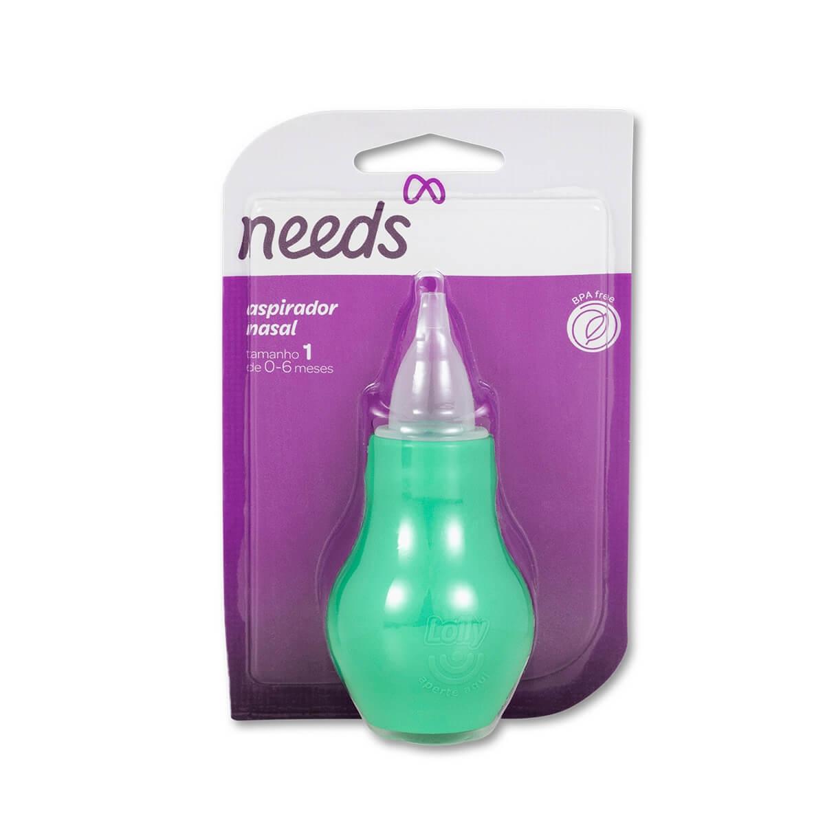 Aspirador Nasal Infantil Needs Cor Verde 1 Unidade