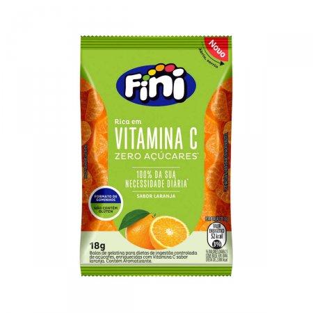 Bala de Gelatina Fini Bem Estar Vitamina C Sabor Laranja