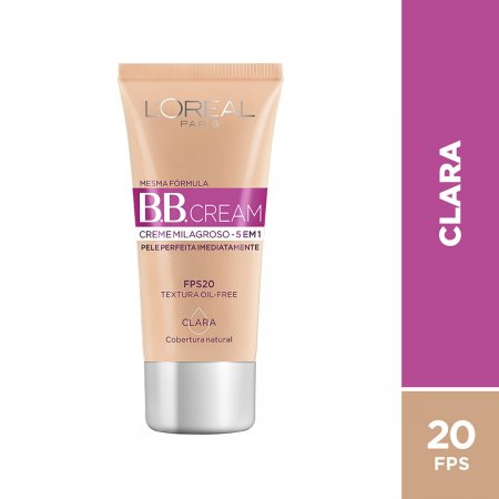 Base BB Cream L'Oréal Paris 5 em 1 FPS20 Clara
