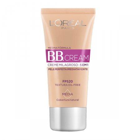 Base Creme Loreal BB Cream FPS20 Cor Média 30ml