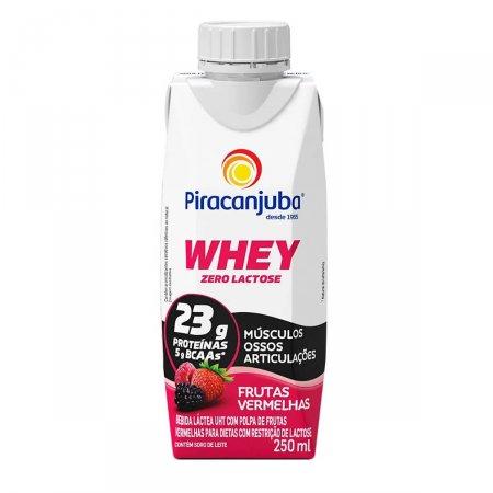 Piracanjuba Whey Bebida Láctea Zero Lactose Frutas Vermelhas com 250ml