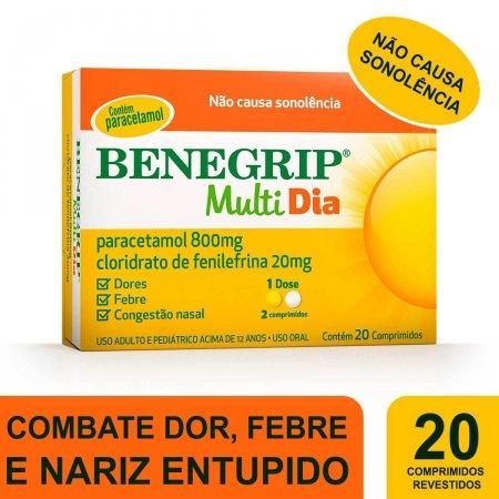 Benegrip Multi Dia com 20 Comprimidos