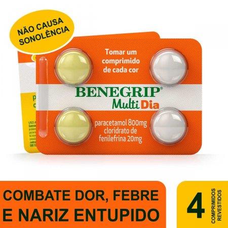 Benegrip Multi Dia com 4 comprimidos