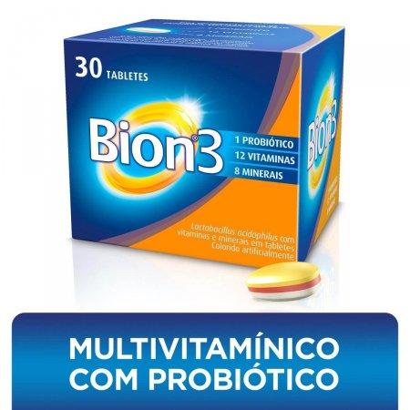 Multivitamínico com Probiótico Bion3 com 30 tabletes