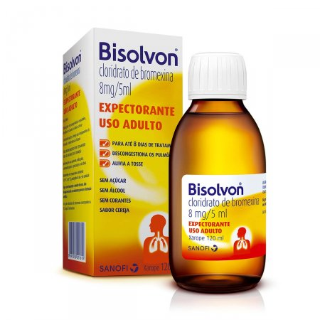 Xarope Expectorante Bisolvon 8mg/5ml Adulto com 120ml