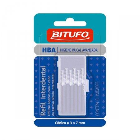Refil para Escova Interdental Bitufo com 6 unidades