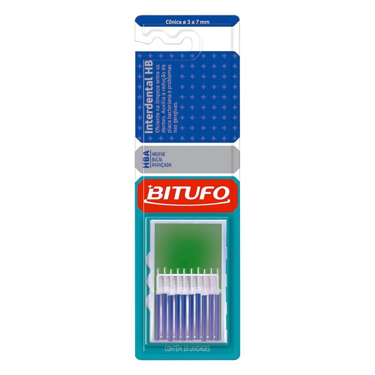 Escova Interdental HB Cônica - Bitufo 10 Unidades