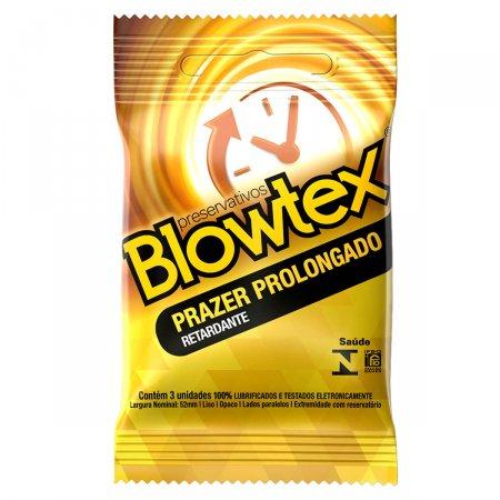 Preservativo Blowtex Efeito Prolongado com 3 Unidades