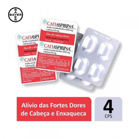 Cafiaspirina com 4 Comprimidos