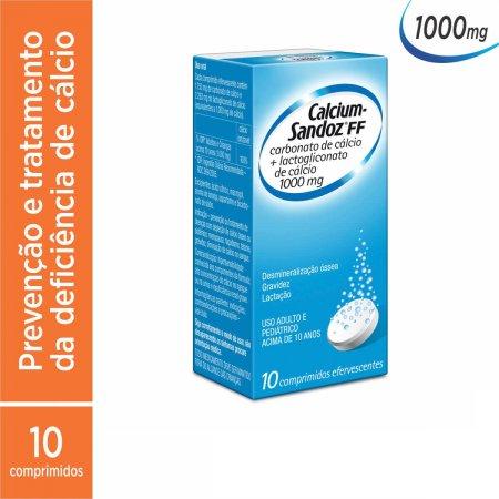 Calcium Sandoz FF 1000mg Com 10 Compridos Efervecentes