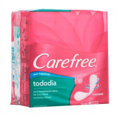 Protetor Diário Carefree Todo Dia sem Perfume 40 Unidades