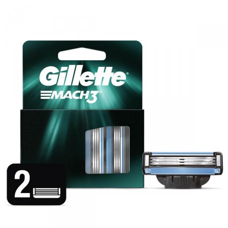 Carga para Aparelho de Barbear Gillette Mach3 2 Unidades