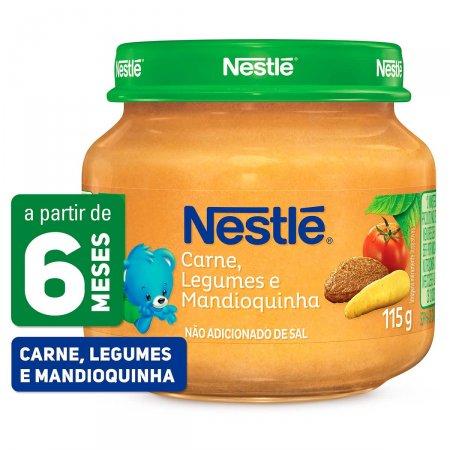 Papinha Nestlé Carne, Legumes e Mandioquinha Pote 115g