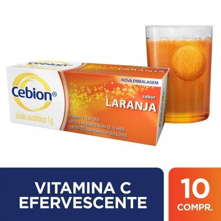 Vitamina C Cebion Sabor Laranja com 10 Comprimidos Efervescentes